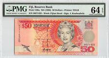 Fiji ND (1996) P-100a PMG Choice UNC 64 EPQ 50 Dollars (Sign. Kuabuabola)
