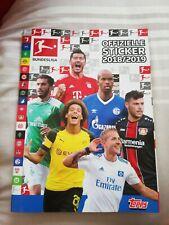 99% Complete Topps Offizielle Bundesliga Sticker Ablum 2018/2019