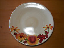 "Gibson Everyday PROVENCAL ROOSTER Set of 3 Dinner Plates 11 1/8"" Red Orange"