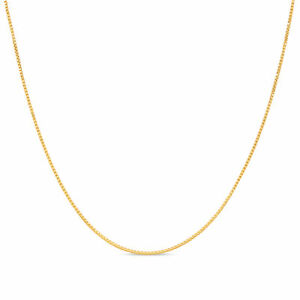 18k Gold Plated .925 Sterling Silver 1mm Box Chain Necklace 12 - 40 inches!