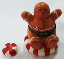 gingerbread trinket box with surprise peppermint inside