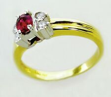 14KT YELLOW GOLD CHARMING! LADIES RUBY AND DIAMONDS RING 10199R