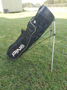 Vintage Karsten PING Hoofer Golf Bag - Black/White - Good Shape
