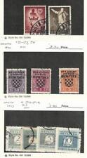 Croatia, Postage Stamp, #B16-B17, J1-J2, J4, J13-5, J17 Used, 1942-43