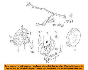 SUZUKI OEM 1999 Vitara Brake-Rear-Brake Shoes Spring 5333165D00
