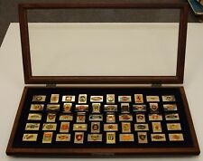 FRANKLIN MINT AUTOMOBILE CAR 50 EMBLEMS STERLING SILVER 24K GOLD PLATED INGOTS