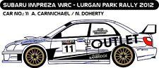 DECALS 1/43 SUBARU IMPREZA WRC #11 - CARMICHAEL -RALLYE LURGAN PARK 2012- D43199