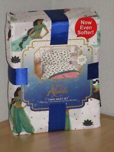 Disney Aladdin Jasmine Desert Jewel 3 Piece Twin Sheet Set Bedding Sheets New