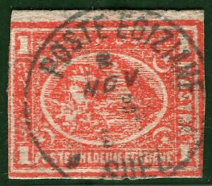 EGYPT Stamp 1pi Used *Poste Khedive Egiziane* Suez CDS Postmark BLACK417