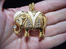 """Authentic Vintage KJL AVON 1989-""""Renaissance Collection"""" Elephant Necklace"""