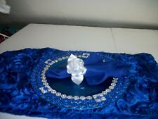 19Pc Royal Blue And Silver Table Accessories