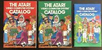All 3 Atari Video Game Cartridge Computer System Catalog Booklets '80 & '81 Good