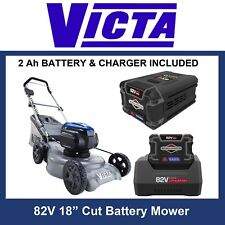 "Victa 82V Cordless / Battery Mower Kit, 18"" Mulch & Catch, 2Ah battery & Charger"