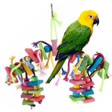 Big Bird Parrot Toys Swing Chewing Playground Gym Macaw Cockatoos Birds Bead AU
