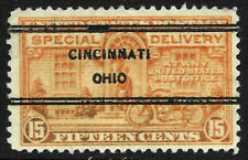 """""""Cincinnati Ohio"""" Precancel SON 15 Cent Special Delivery BOB 5P53"""