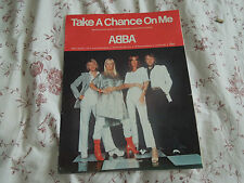 ABBA Take A Chance On Me RARE Sheet Music