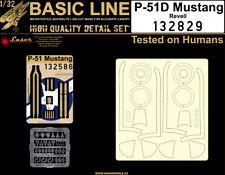 HGW 1/32 P-51D Mustang Basic Line Seatbelts & Masks # 132829