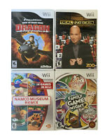 Nintendo Wii Lot Of 4 Deal Or No Deal Namco Museum Remix Family Game Night 2