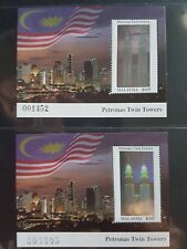 Malaysia 1999 Petronas twin tower 1v miniature + replacement number 1v MNH