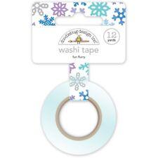 Scrapbooking Crafts Doodlebug Washi Tape Fun Flurry Winter Snowflakes Purple Blu