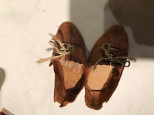 Antique shoes for french doll JUMEAU STEINER Taille 11-12 4 in (environ 10.16 cm)