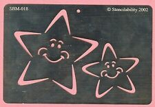 Smiling Star Stars Stainless Steel Stencil  - NEW - card making , scrapbook