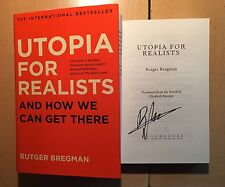 Rutger Bregman Utopia for Realists And How We Can Get There HB 1/1 SIGNED NEW