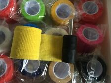 RoYun 12pcs Self-adhesive Elastic Medical Bandage 4.5m Tattoo Grip Tube Cover