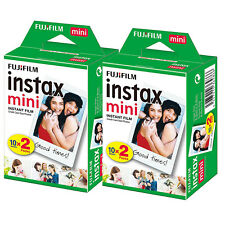 Fujifilm Polaroid Instant Camera Photos Instax Mini Film - 2 Packs (40 Shots)