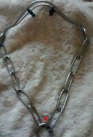 Herm Sprenger Steel Prong Long Link Show Collar Medium Large 3 Sizes German Made