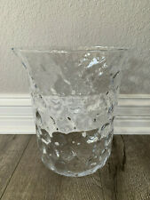 Partylite Thumbprint Hurricane Seville Stand Replacement Glass 3 -wick Candle Ho