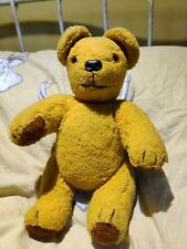 """Vintage 13"""" Jointed Teddy Bear with Rattler Chad Valley?"""