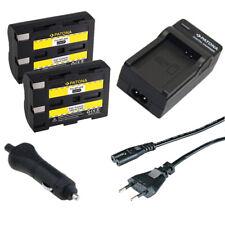2x Batteria Patona + caricabatteria casa/auto per Minolta Dynax 7d,Maxxum 5d