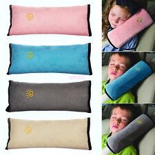 Beige Kids Safety Car Seat Belt Pad Strap Harness Shoulder Sleep Pillow Cushion