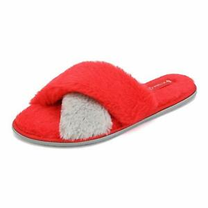 DREAM PAIRS Womens Memory Foam Slippers Soft Open Toe Slip On House Shoes