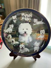 Danbury Mint West Highland Terriers Porcelain Collector Plate