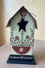 Wood Birdhouse With Metal Roof