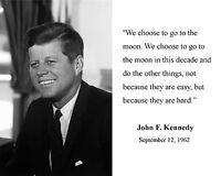 President John F. Kennedy JFK Moon Quote B&W 8 x 10 Photo Picture Photograph