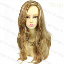 Wiwigs Stunning Long Wavy Blonde Mix Natural Skin Top Ladies Wig