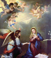 Dream-art Oil painting Bartolome Esteban Murillo - Annunciation Madonna & angels