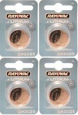 4 x Rayovac 2025 CR2025 DL2025 3V Lithium Batteries