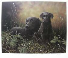 JOHN SILVER Hand Signed Lithograph BLACK LAB LABRADOR RETRIEVER DOGS