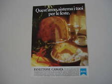 advertising Pubblicità 1981 PANETTONE CASSATA MOTTA