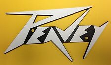 Peavey Lg.White Logo w/Blk Background (Lighting Bolt Style)used Some Amps & Cabs