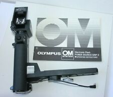 Olympus T32 & T20 Auto Electronic Flash Battery Power Bounce Grip 2 .OM Camera.