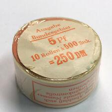 P14-4)BRD UV 500er Rolle Mi 694 orig. verschlossen+Banderole+Teller IVx orange