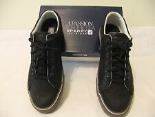 SPERRY TOP SIDER Striper LTT Black Leather Casual Lace Up SZ 11.5 EU 45 NIB $95