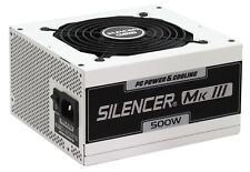Alimentación y refrigeración Silencer PFC ACTIVO MODULAR 500 vatios Series grado Atx Pc