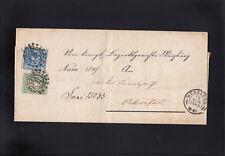 AD Bayern, Brief doppelt verwendet aus Würzburg nach Ochsenfurt 1868