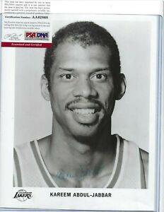 Kareem Abdul Jabbar Autographed 8x10 Photo PSA COA LA Lakers Basketball HOFer